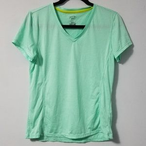 Sporty Just Be mint green short sleeve tee, L